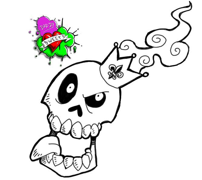 49c47b02a06ae Skull With Crown Tattoo Flash By Swaggerdaddy On Deviantart