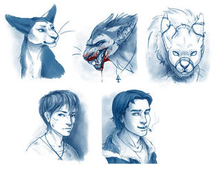 Character sheet portraits by tigrin