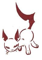 tribal-cat tattoo by Paya-Art