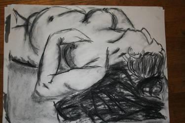 Nude women charcoal by Slothsofdeath