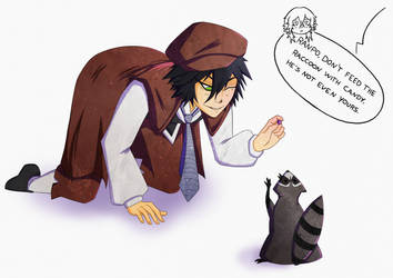 Ranpo Don't Give Candy To Karl! by LivingInThisFantasy