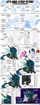 Let's Make: A Pony Picture! Tutorial #4 by SorcerusHorserus