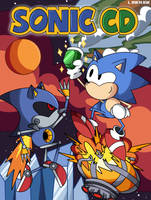 Sonic CD Cover art Remake by linkniak