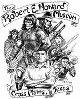 Robert E. Howard Museum T-Shirt Design by mlpeters
