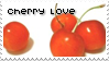 Cherry fruit love stamp by becka72