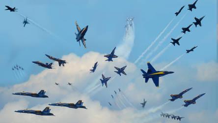 Blue Angels by FirebornForm