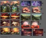 Week 1: Color Studies 11-20 by FirebornForm