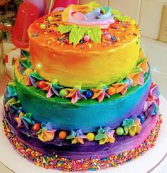 tie dye cake!   by darkangel042787