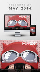 Freebie: Wallpaper Calendar of May 2014 by yahya12