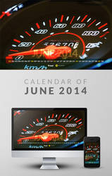 Freebie: Wallpaper Calendar of June 2014 by yahya12