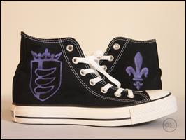 Custom converse shoes by oilandsugar