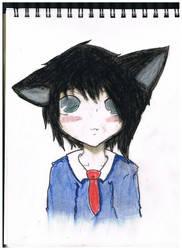 Neko school boy by bambooflower
