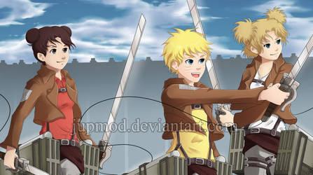 Naruto-AoT xover: Let's Kill Titans! by JuPMod