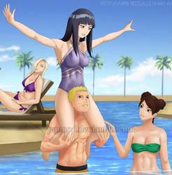 Paradise Vacation: Ino Hinata Naruto Tenten (Clup) by JuPMod