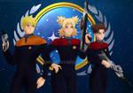 NaruTemaTen: Starfleet Officers (Full-Ver) by JuPMod