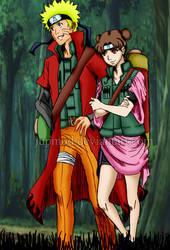 NaruTen: AU 4th Great Shinobi War (Colored) by JuPMod