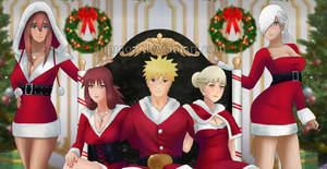 Naruto and Ship Movie Girls: Happy Holidays! Clup by JuPMod