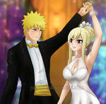 NaruLucy: Celestial Queen and Her Golden Knight CU by JuPMod