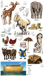 Genesis Flood Stickers by Swashbookler