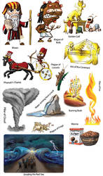 EXODUS Moses Stickers by Swashbookler