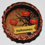 3D Bottle Cap Happy Halloween Pumpkin Tree by UniqueDesignByMonica