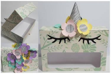 Unicorn Valentine Box by Monica Vasquez by UniqueDesignByMonica
