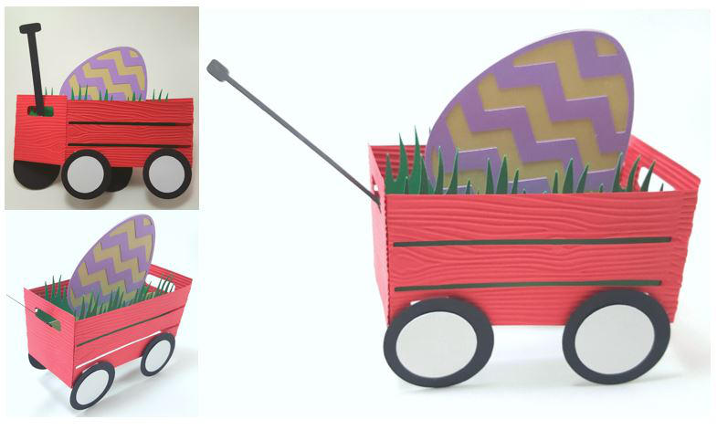 Card - Easter Wagon Pop Up Card by UniqueDesignsby by UniqueDesignByMonica