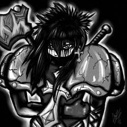 Azraella Black and White Ninja by TheEnigmaTNG
