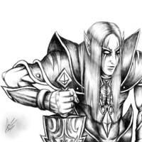 Mystic Elf Sketch by TheEnigmaTNG