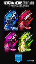 Industry Nights PSD Templates by ImperialFlyers