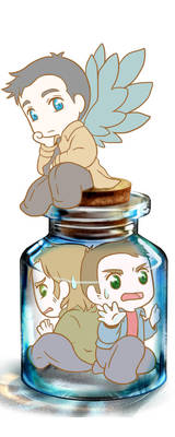 Bottle o'Winchesters by MugenMusouka