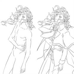 Lineart Edmond Dantes King of the Cavern by MugenMusouka