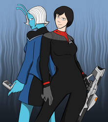 Star Trek Online Duo by diceknight