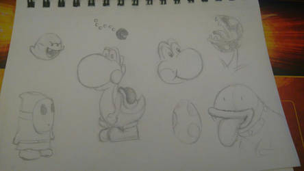Yoshi sketches by PXY-ART