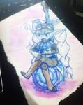 Poppy Hextech  watercolors by YuzukiUwU