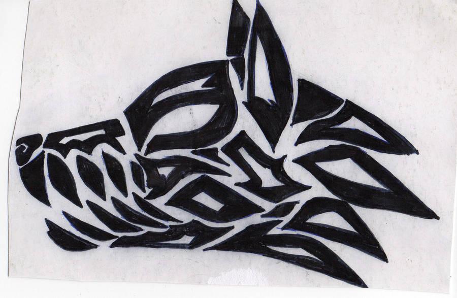 Tribal Wolf Head Tattoo By Eri Freak On Deviantart