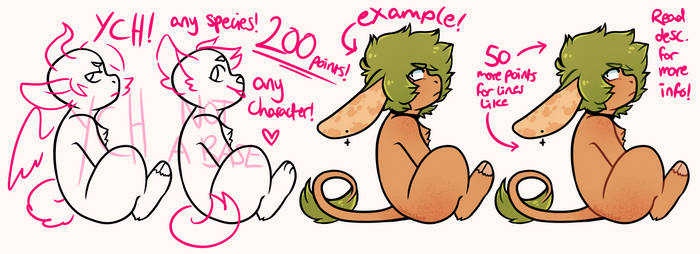 ANY SPECIES, ANY CHARACTER YCH!!! CLOSED! by ZodiacCloud