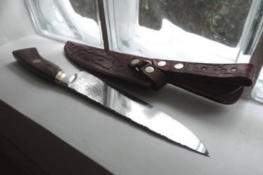 A Custom Knife with a Custom Sheath Together Again by OSOFacasRS
