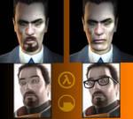Gordon Freeman Gman Comparison by EspionageDB7