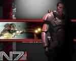 Commander Shepard Wallpaper by EspionageDB7