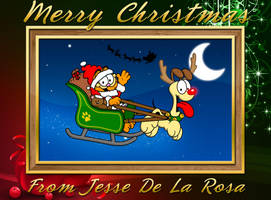 A Garfield and Odie Christmas by EspionageDB7