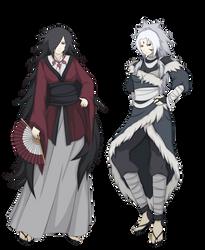 Uchiha and Senju moms by FireEagleSpirit