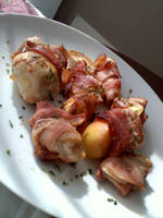 Bacon-wrapped Apples, Chicken by TeaPuck