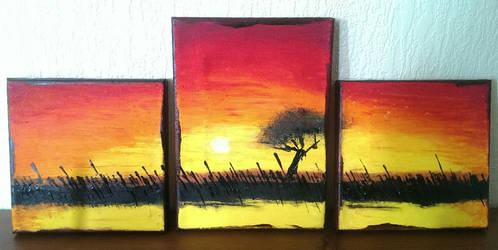 Sunset - Mini Canvas by Java--Jive