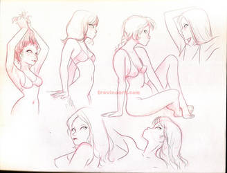 Girls Sketches by raultrevino