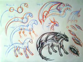 Basic Dragon Tutorial by SaphireDragon16