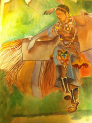 Fancy Shawl Dancer by katurkeyg