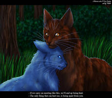 Bluefur and Oakheart by Vialir
