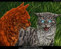Squirrelflight and Jayfeather by Vialir