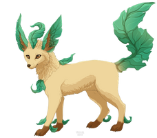Leafeon by Vialir